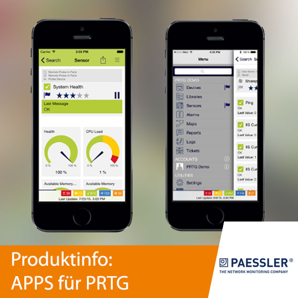 Paessler: Apps für PRTG